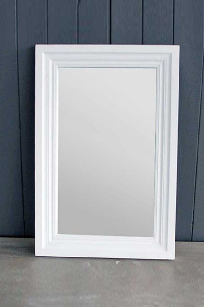 Biggie Best Wooden Antique White Mirror
