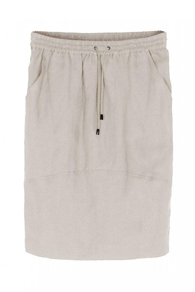 Bitte Kai Rand Ramses Twill Linen Skirt in Kit Melange