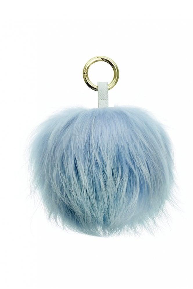 Bobbl. Keyring in Baby Blue