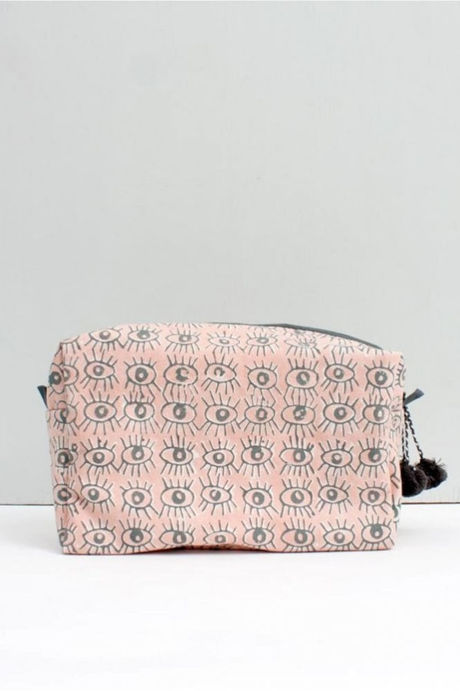 Bohemia Eye Print Wash bag in Blush Pink