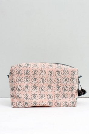 Eye Print Wash bag in Blush Pink