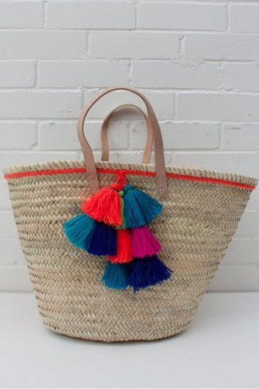 Fiesta Tassel Baskets in Orange