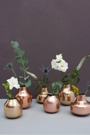 Metal Bud Vase Trio in Copper