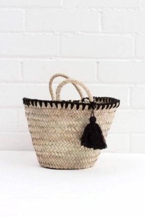 Mini Mexicana Market Basket in Black