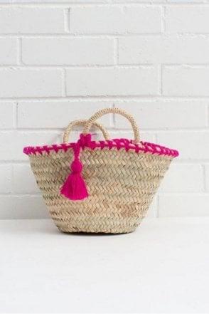 Mini Mexicana Market Basket in Fuchsia