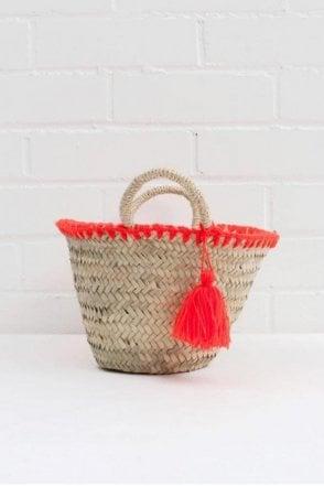 Mini Mexicana Market Basket in Orange