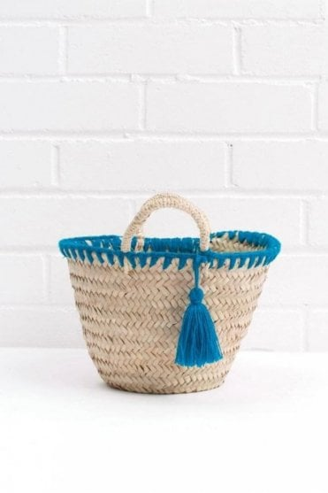 Mini Mexicana Market Basket in Turquoise