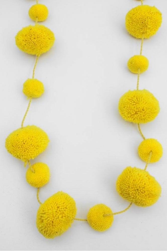 Bohemia Pom Pom Garland in Acid Yellow
