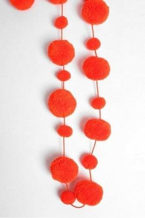 Pom Pom Garland in Orange