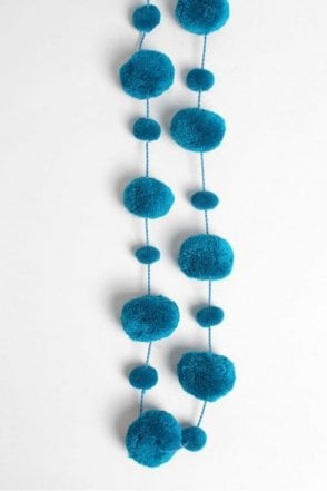 Pom Pom Garland in Teal