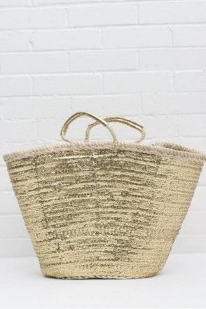 Sequin Basket in Gold