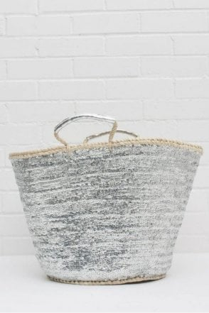 Sequin Basket in Silver