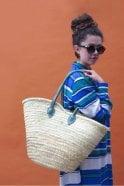 Bohemia Souk Shopper Basket in Indigo