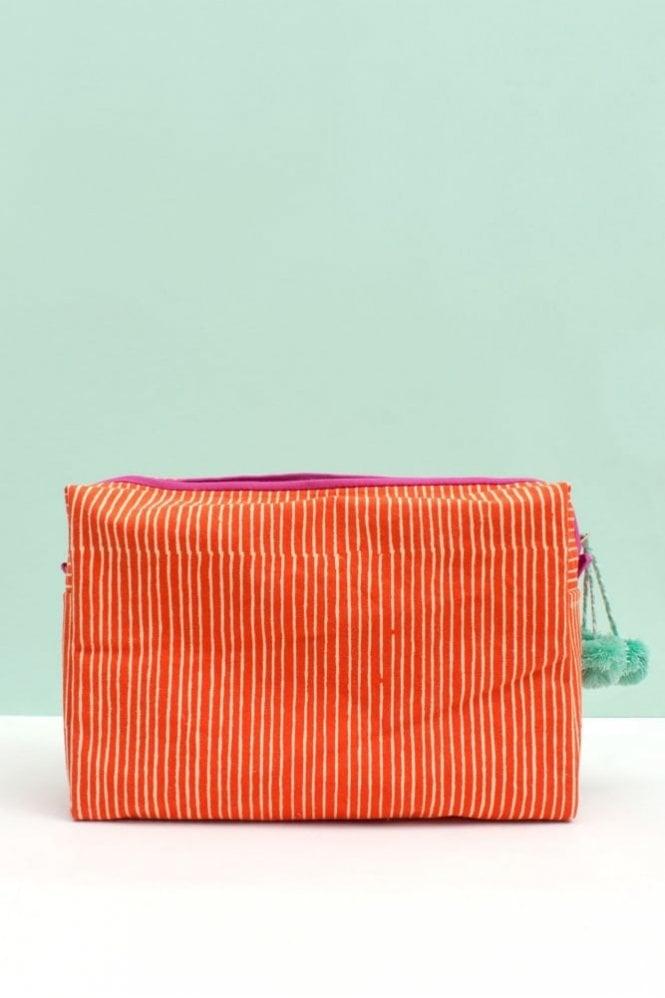 Bohemia Stripe Wash Bag in Orange