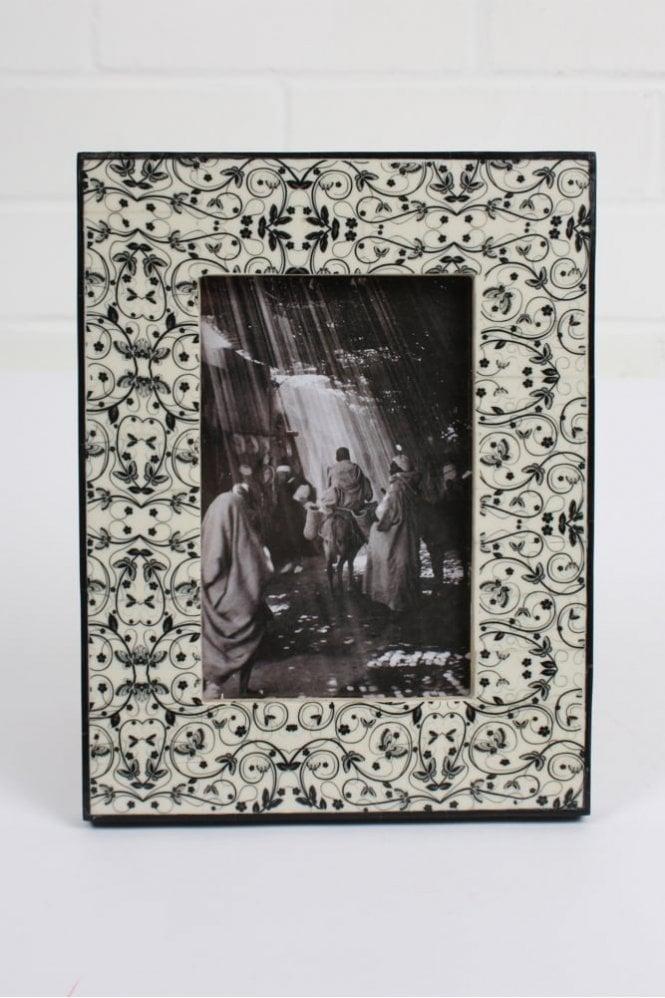 Bohemia Tile Photo Frame in Black