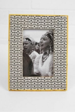 Tile Photo Frame in Yellow