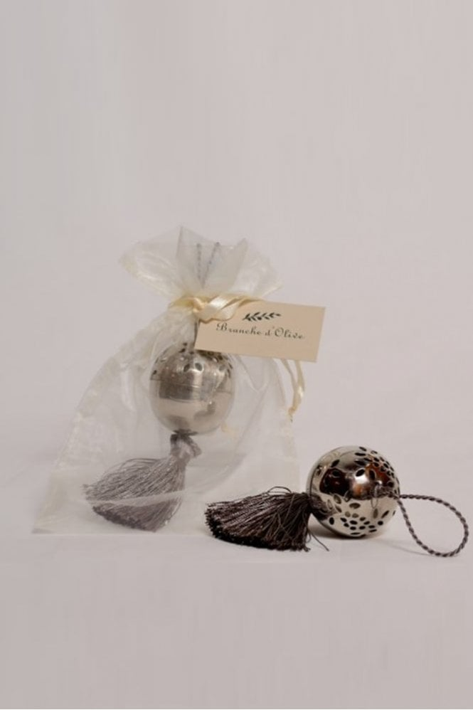 Branche D'Olive Tassled Small Ball Pomander – Feather
