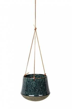 Annie Hanging Flower Pot in Dark Blue Antique
