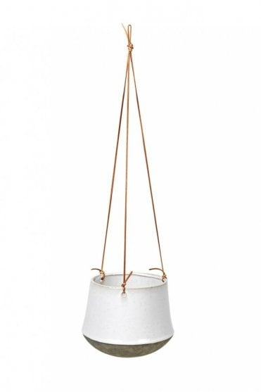 Annie Hanging Flower Pot in White Antique