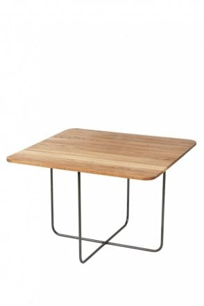 Hyben Oak Steel Table