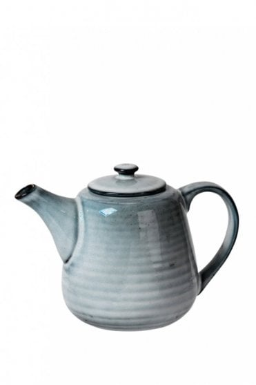 Nordic Sea Ceramic Teapot for One
