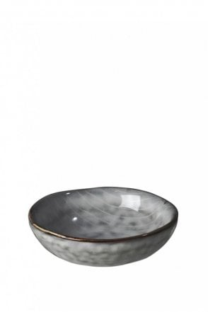 Nordic Sea Hand-Painted Butter Bowl