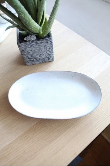 Oval Plate in Nordic Sand
