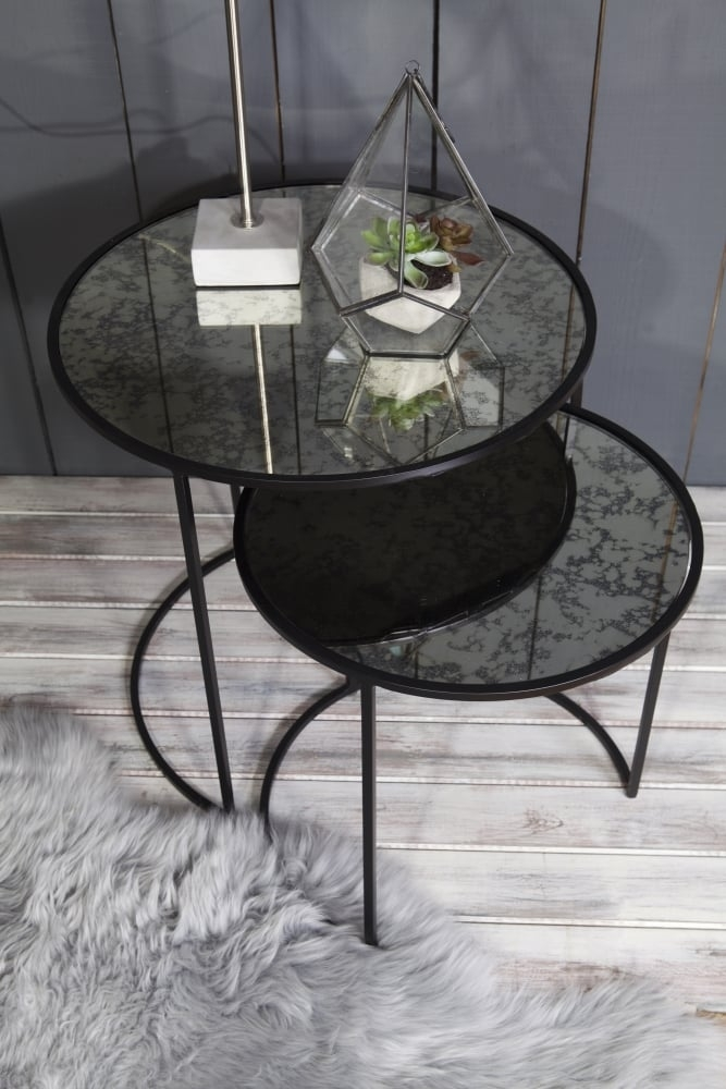 broste copenhagen stends set of 2 round tables at sue parkinson. Black Bedroom Furniture Sets. Home Design Ideas
