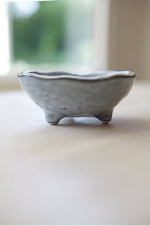 Tiny Nordic Sea Footed Bowl