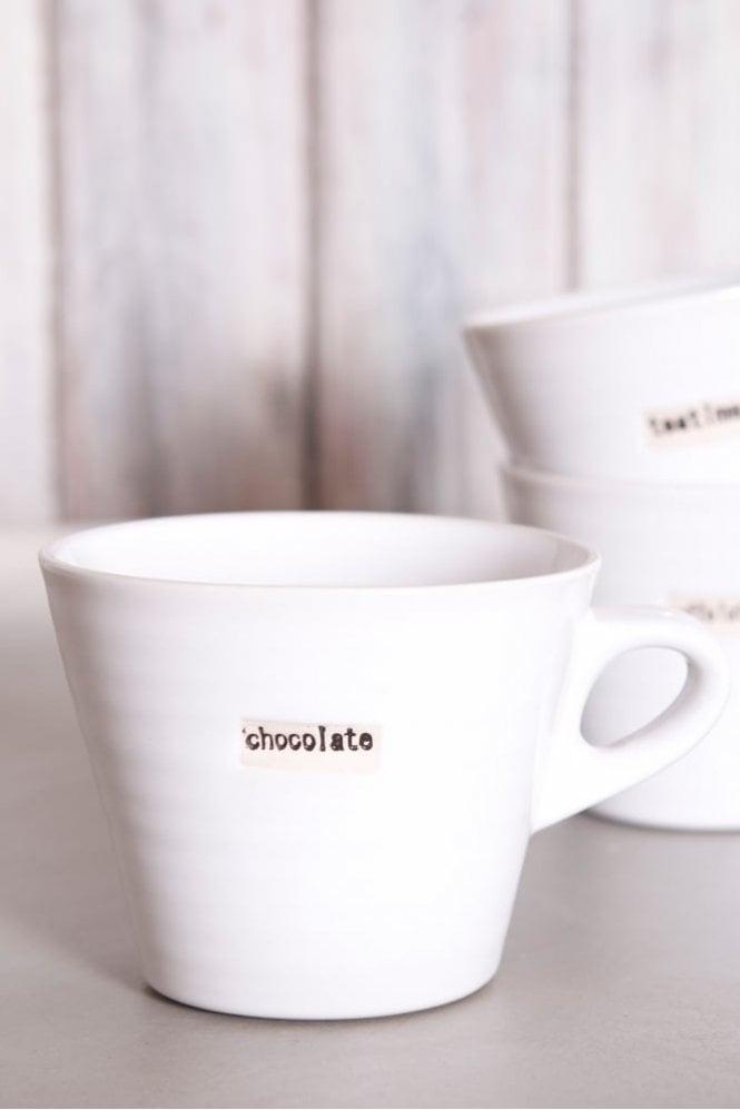 Broste Copenhagen White Mug – Chocolate