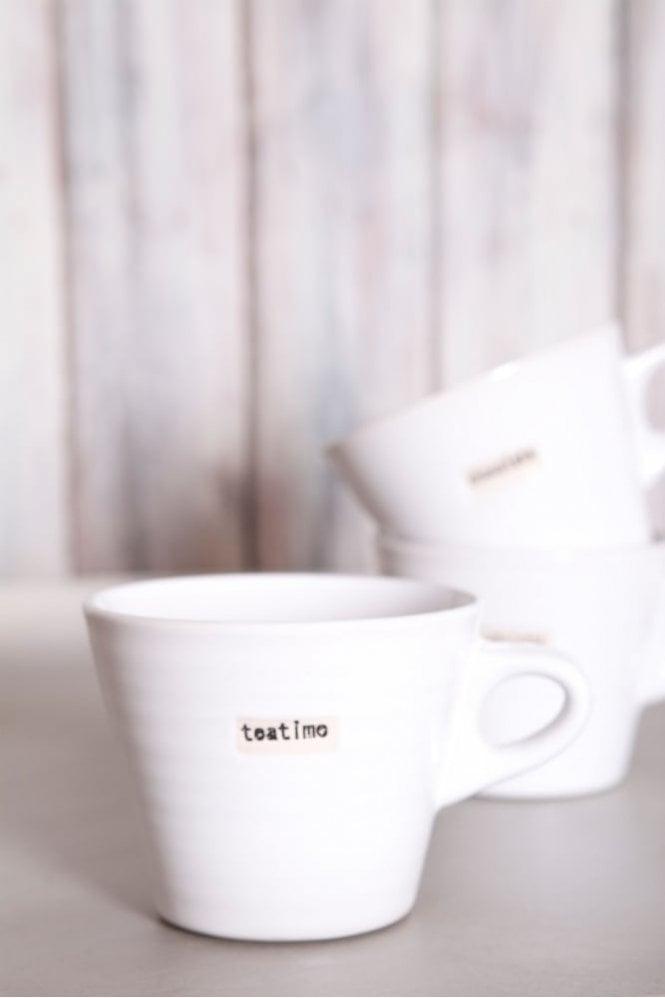 Broste Copenhagen White Mug – Teatime
