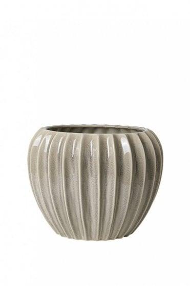 Wide Ceramic Flowerpot
