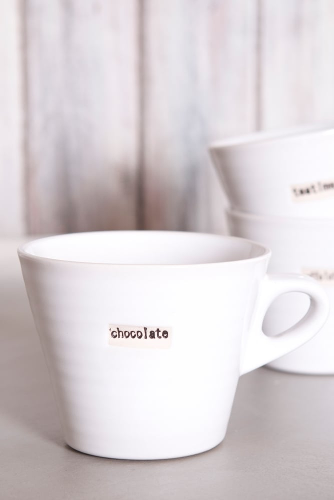 Connu Broste Copenhagen White Mug – Chocolate at Sue Parkinson AZ17