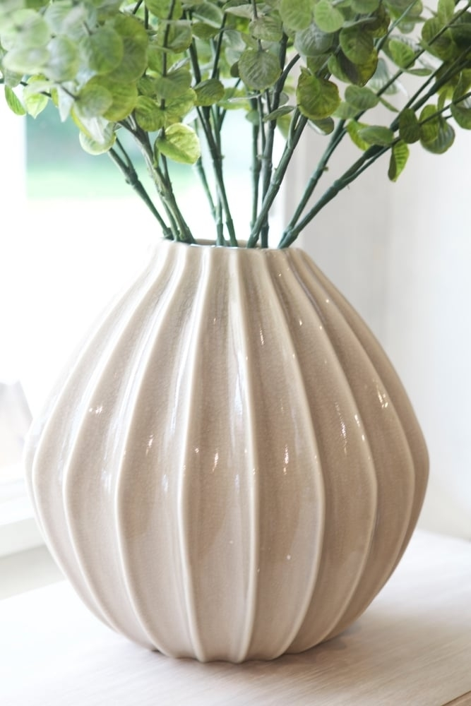 broste copenhagen wide vase large at sue parkinson. Black Bedroom Furniture Sets. Home Design Ideas