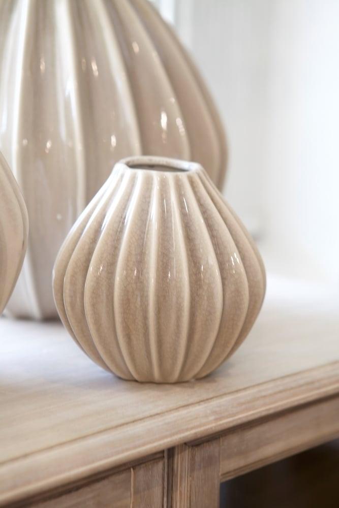 broste copenhagen wide vase small at sue parkinson. Black Bedroom Furniture Sets. Home Design Ideas