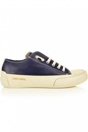 Rock 01 Low Top Trainer in Navy
