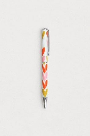 Hearts Stripe Boxed Pen