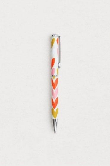 Hearts Stripe Boxed Pen