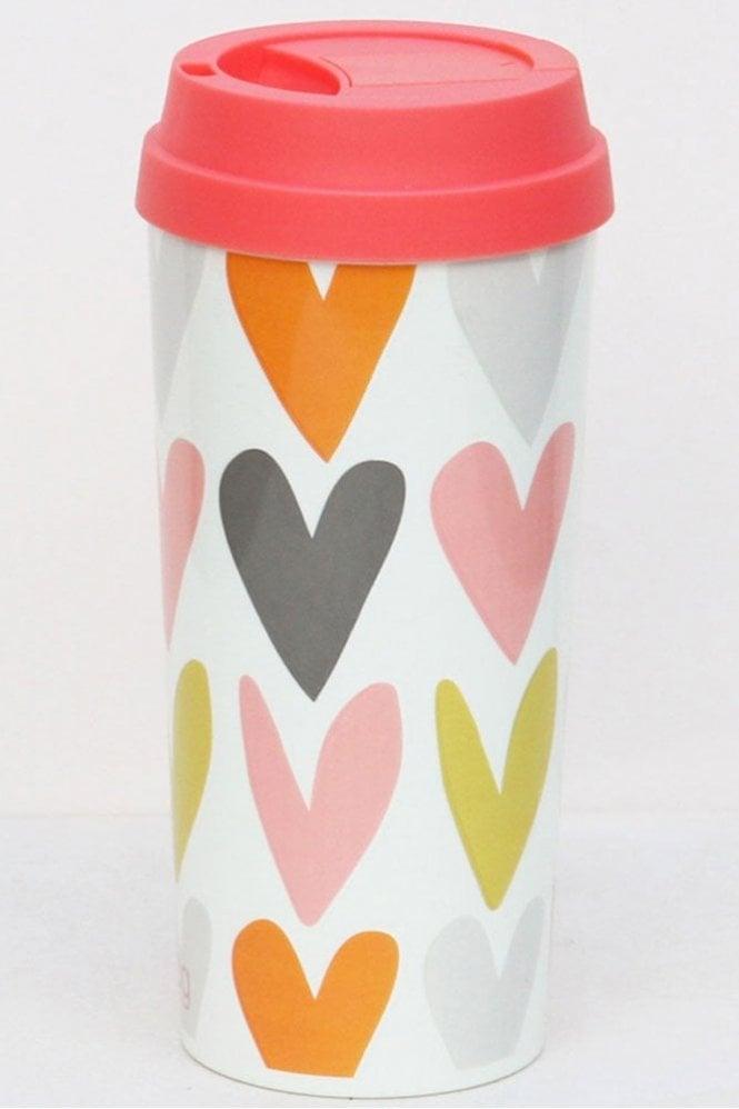 Caroline Gardner Layered Hearts Thermal Travel Mug