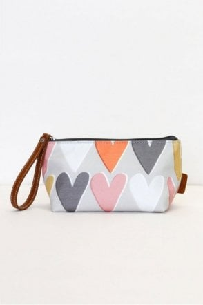 Layered Hearts Wristlet Cosmetic Bag