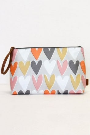 Layered Hearts Wristlet Wash Bag