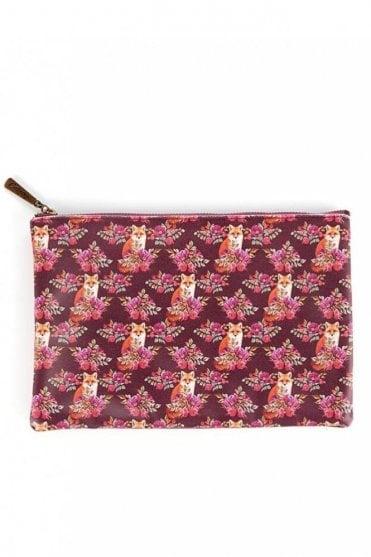 Fox Print Large Flat Bag