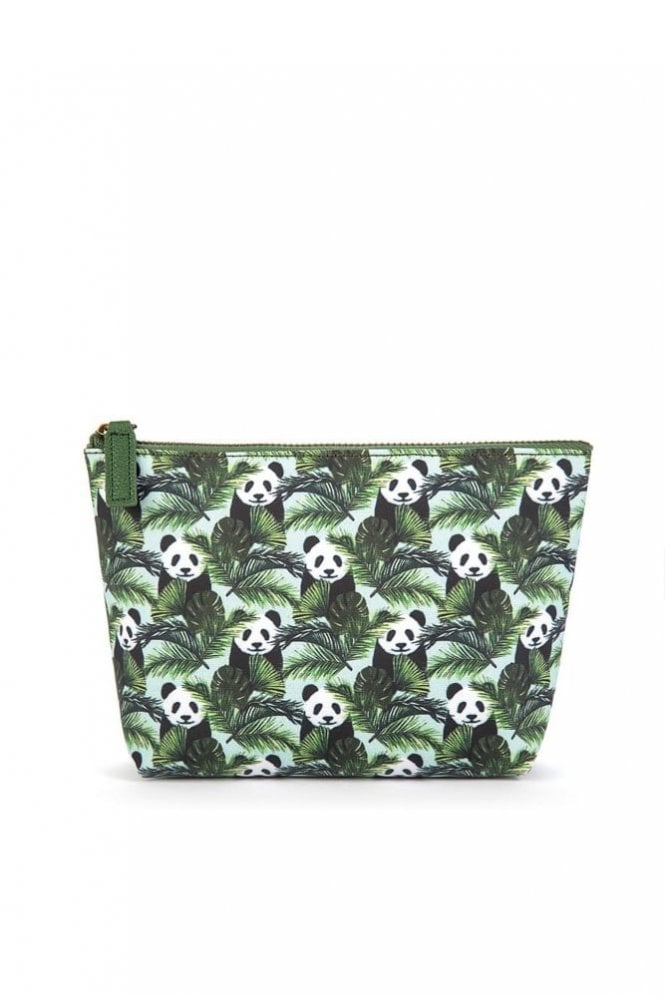 Catseye Panda in Palms Make-Up Bag