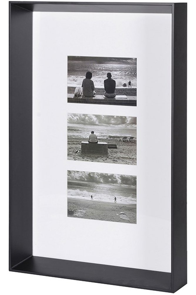 Coach House Box Frame for Three Pictures in Black at Sue Parkinson