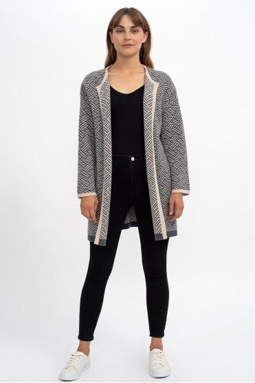 Mary Cardigan in Ash/Oatmeal