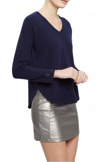 The Cherie Sweater in Navy