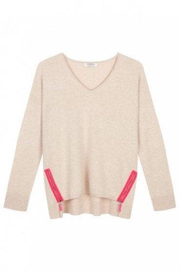 The Nova Sweater in Oatmeal
