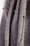 Crea Concept Ladder Detail Scarf in Grey