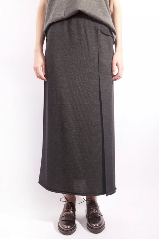 Crea Concept Long Knit Skirt in Charcoal