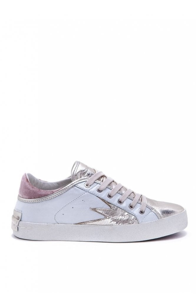 Crime London Faith Lo Trainer in White Rose Gold